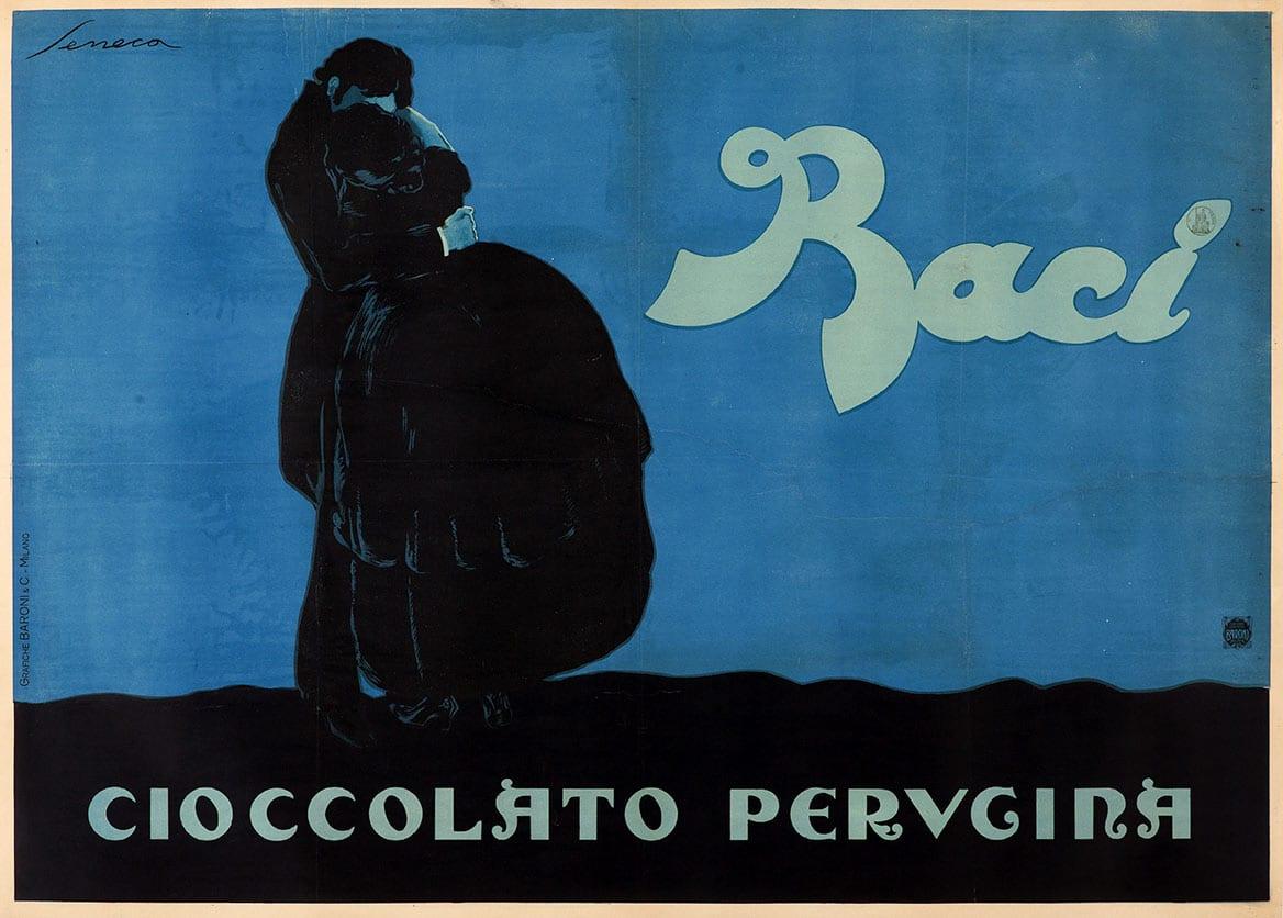 Federico Seneca, Baci Perugina, manifesto Treviso, Museo nazionale Collezione Salce